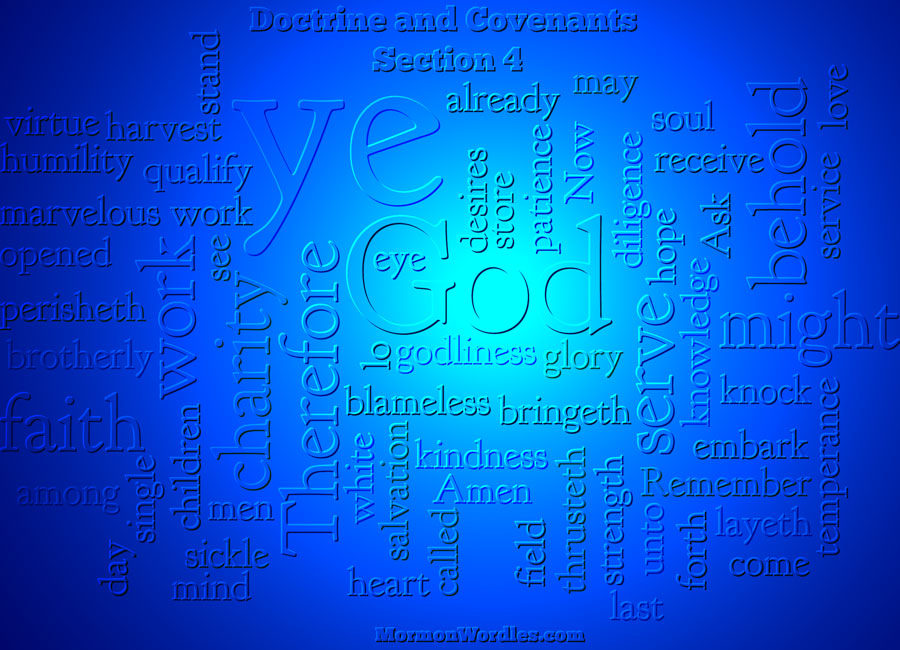 Doctrine & Covenants: Section 4 wordle