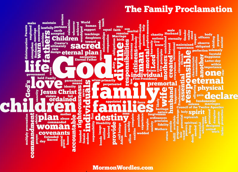 Family Proclamation in gradient colors