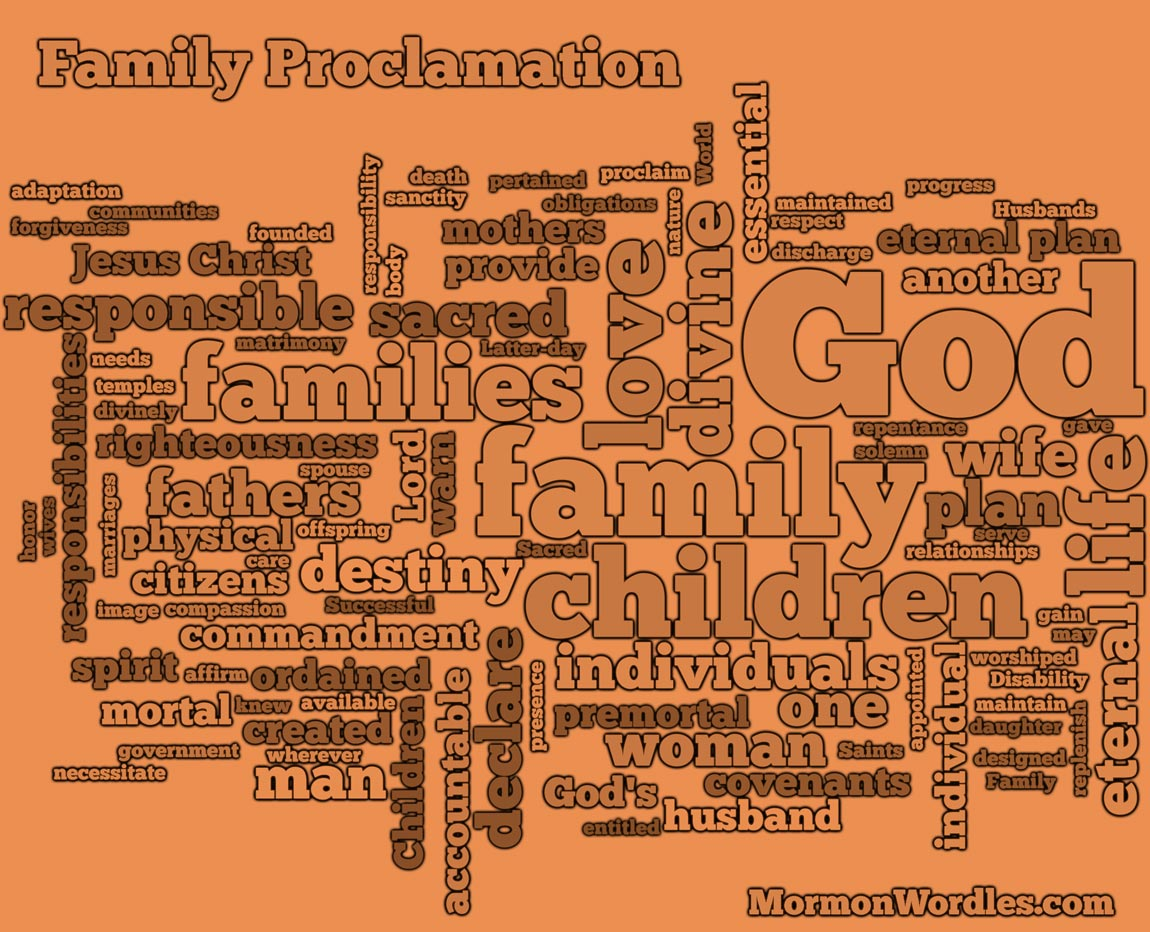 Family Proclamation Wordle