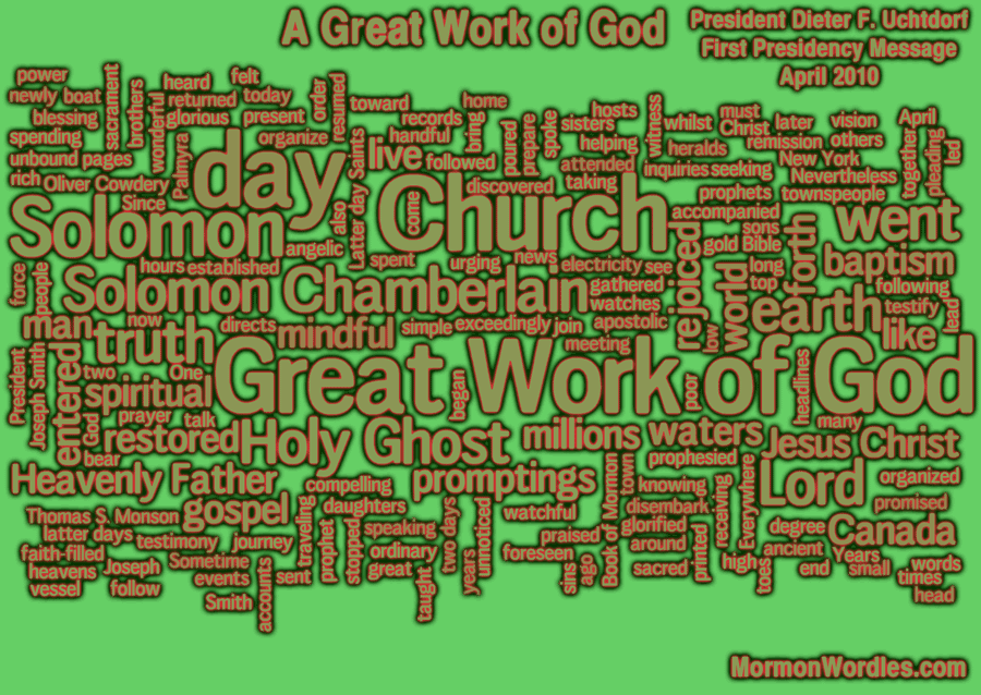 A great work of God talk wordle