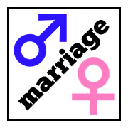 Marriage is Between a Man and a Woman symbol - Facebook Profile image