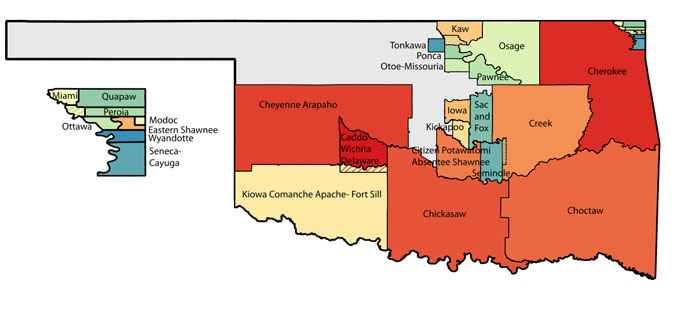 Oklahoma Tribal Statistical Area Map courtesy of Wikipedia