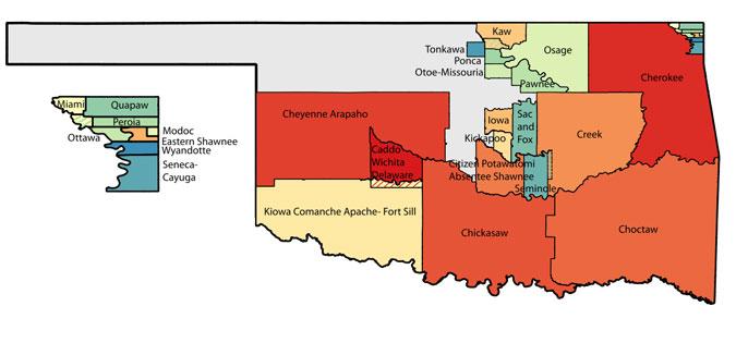Oklahoma Tribal Statistical Area Map courtesy of Wikipedia
