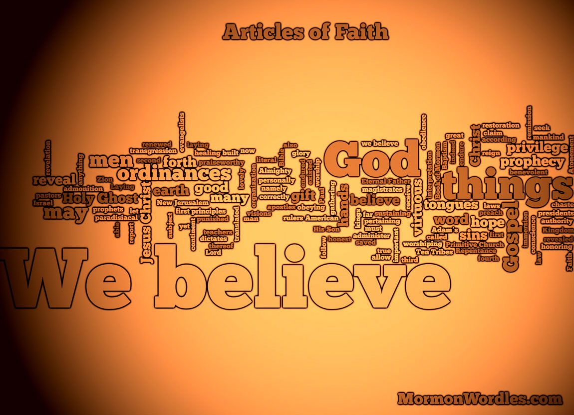Articles of Faith Wordle