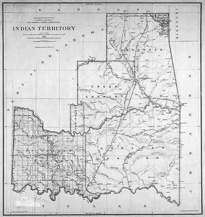 Indian Territory Map courtesy of National Archives
