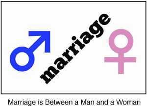 Marriage is Between a Man and a Woman symbol